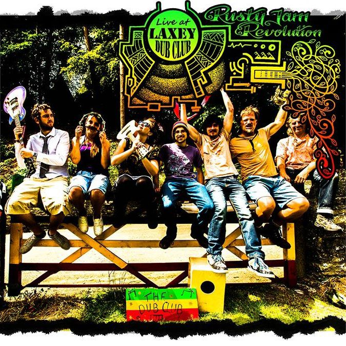 Rusty Jam Revolution - Live at Laxey Dub Club (Front Cover)